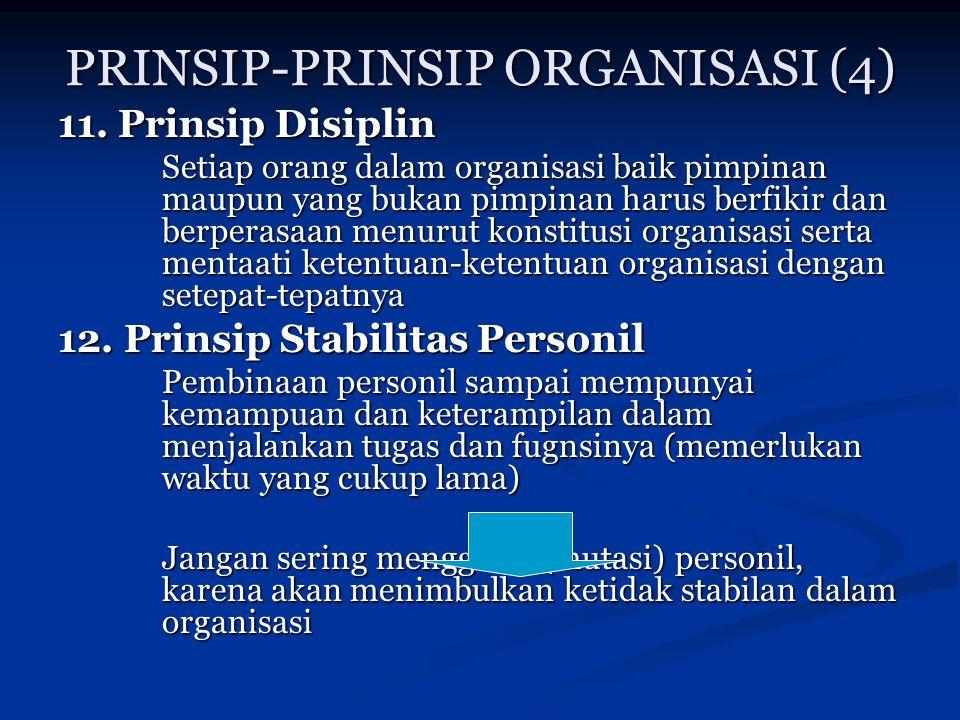 PRINSIP-PRINSIP ORGANISASI (4)