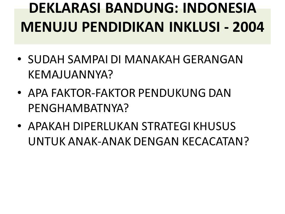 DEKLARASI BANDUNG: INDONESIA MENUJU PENDIDIKAN INKLUSI - 2004