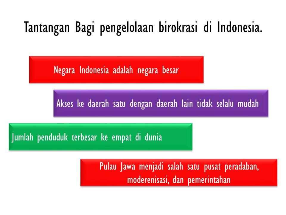 Tantangan Bagi pengelolaan birokrasi di Indonesia.