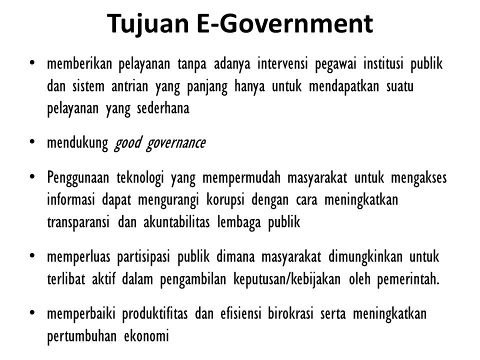 Tujuan E-Government