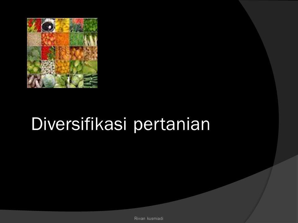 Diversifikasi pertanian