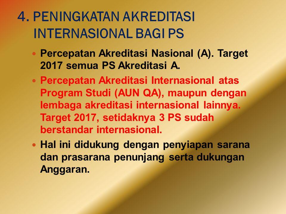 4. PENINGKATAN AKREDITASI INTERNASIONAL BAGI PS