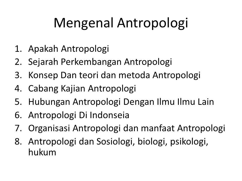 Mengenal Antropologi Apakah Antropologi