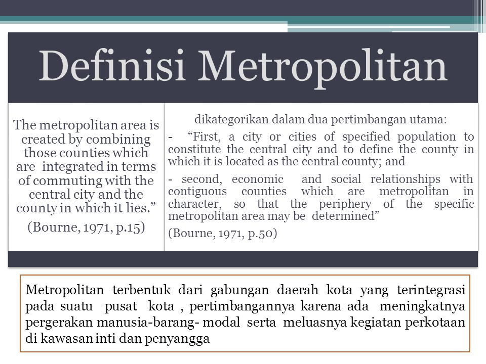 Definisi Metropolitan
