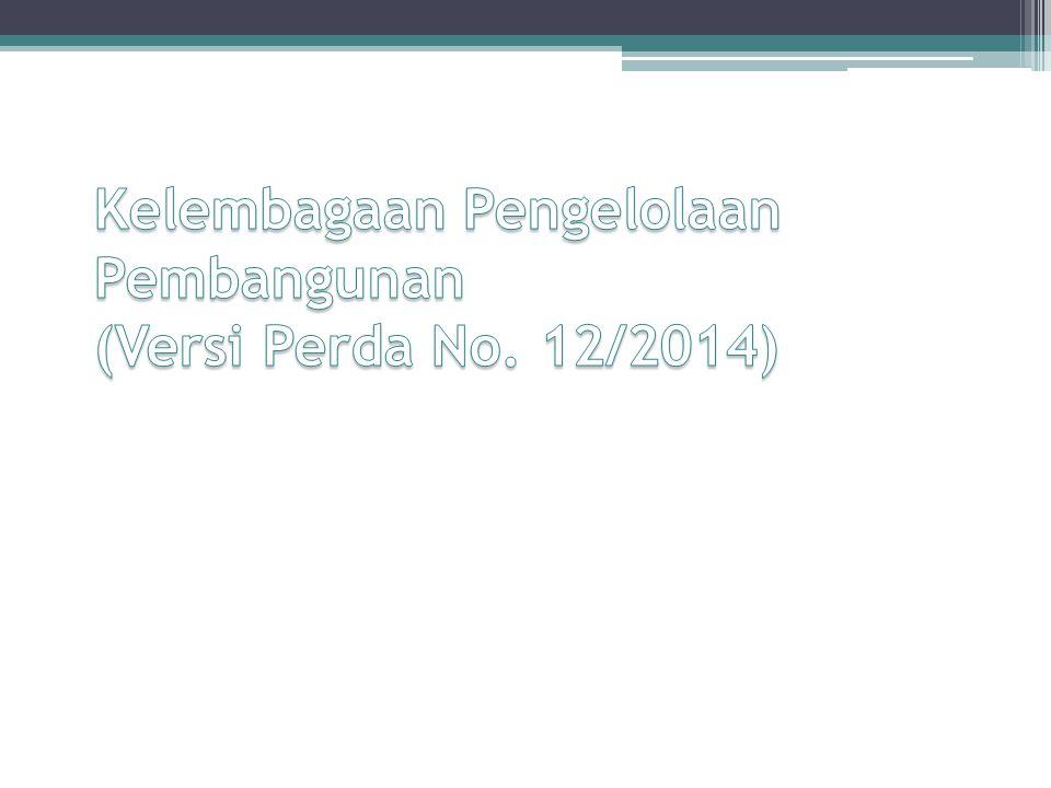 Kelembagaan Pengelolaan Pembangunan (Versi Perda No. 12/2014)