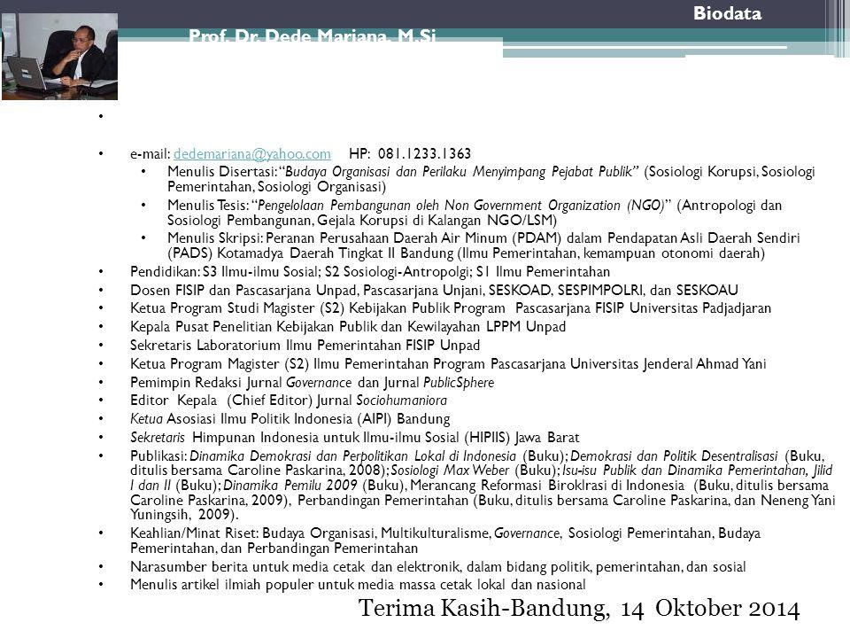 Terima Kasih-Bandung, 14 Oktober 2014