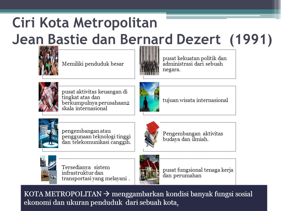 Ciri Kota Metropolitan Jean Bastie dan Bernard Dezert (1991)