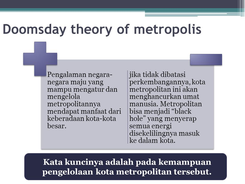 Doomsday theory of metropolis