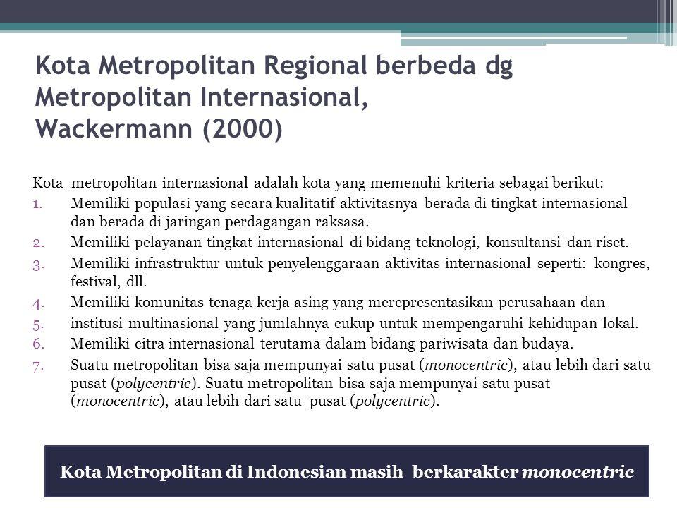 Kota Metropolitan di Indonesian masih berkarakter monocentric