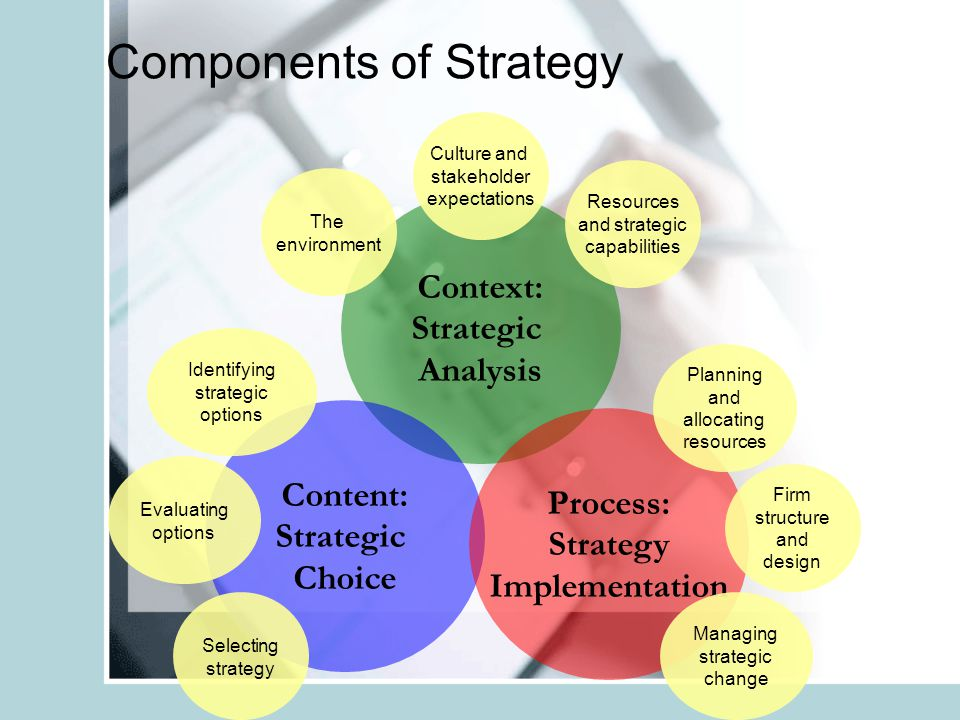 Components of Strategy