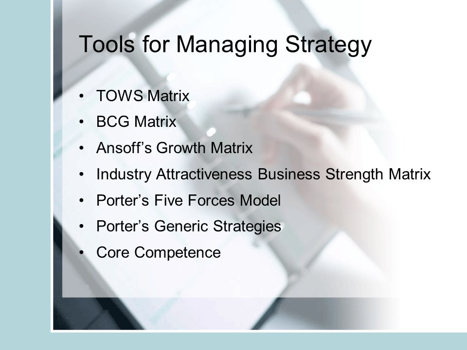 Tools for Managing Strategy