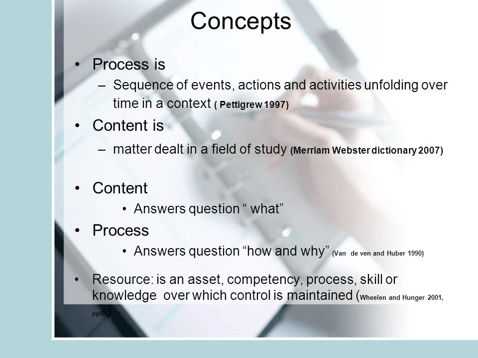 Concepts Process is Content is Content Process