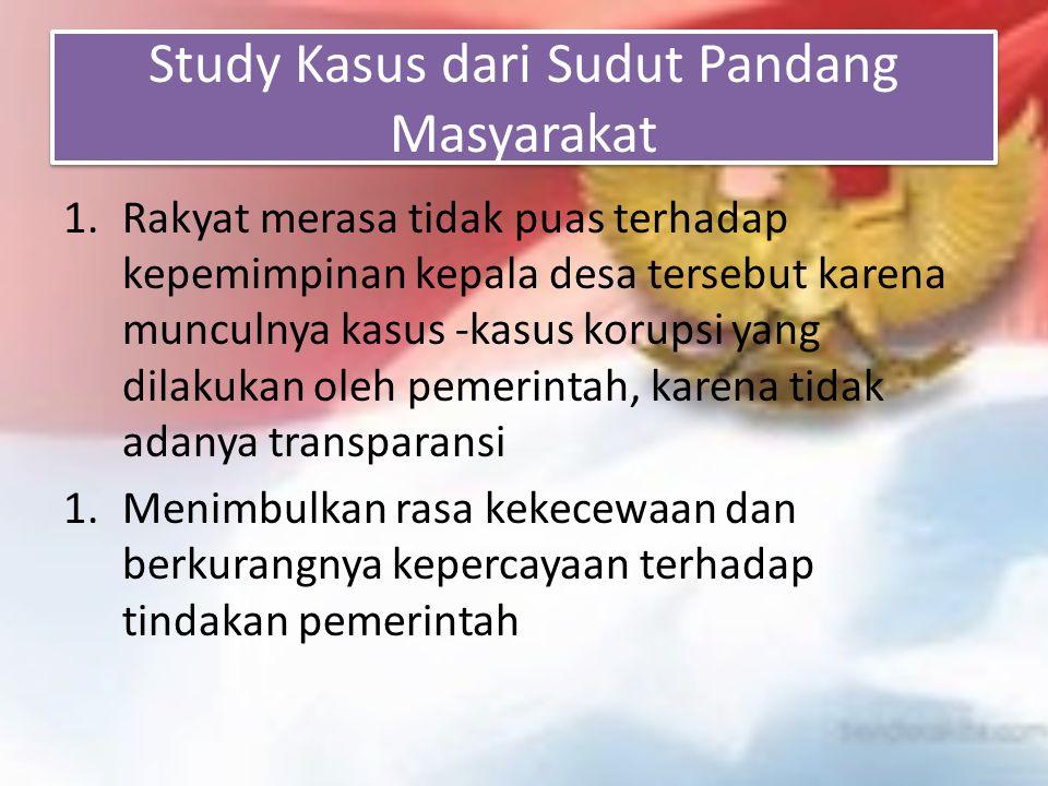 Study Kasus dari Sudut Pandang Masyarakat