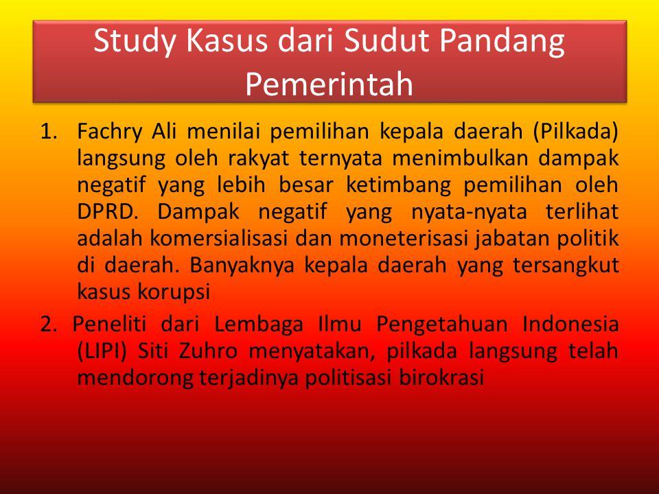 Study Kasus dari Sudut Pandang Pemerintah