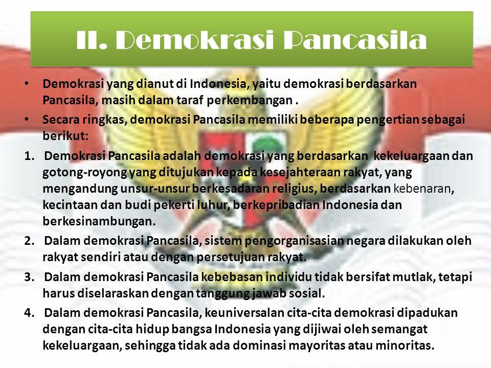 II. Demokrasi Pancasila