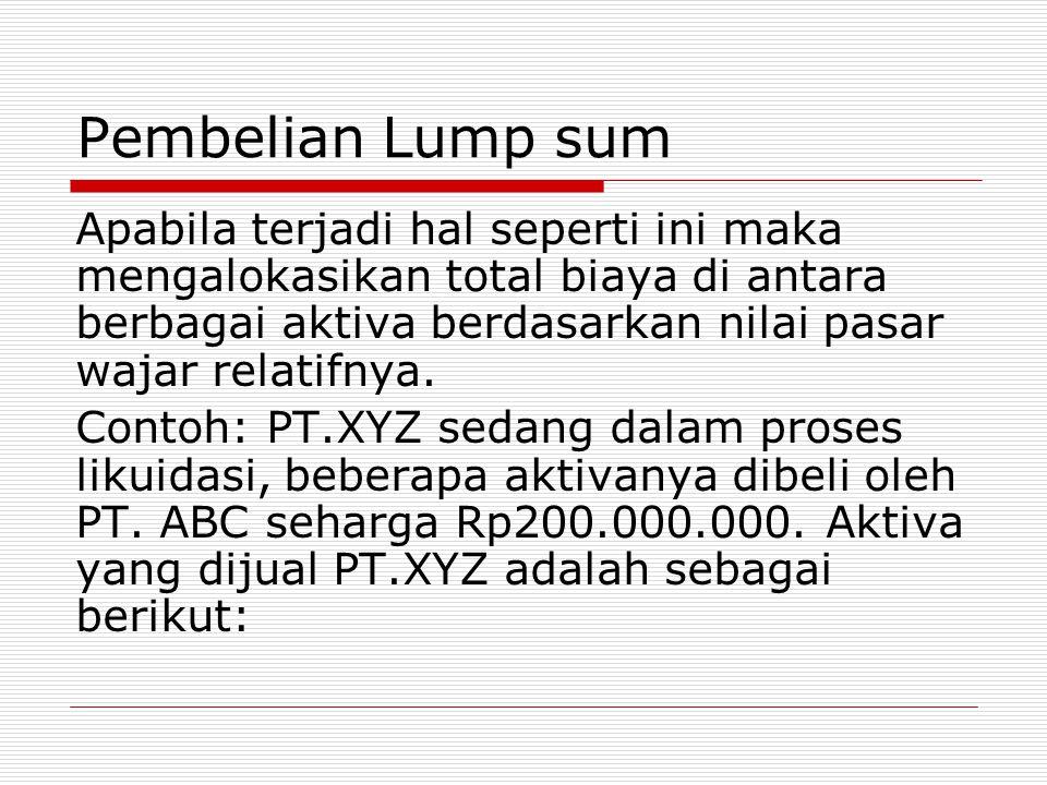 Pembelian Lump sum