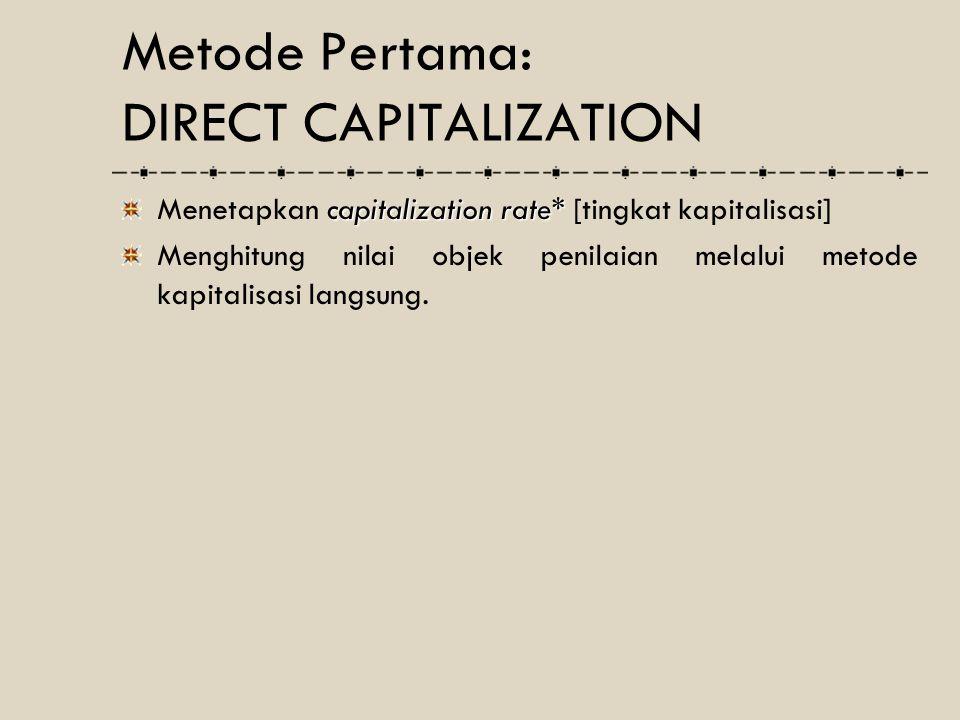 Metode Pertama: DIRECT CAPITALIZATION