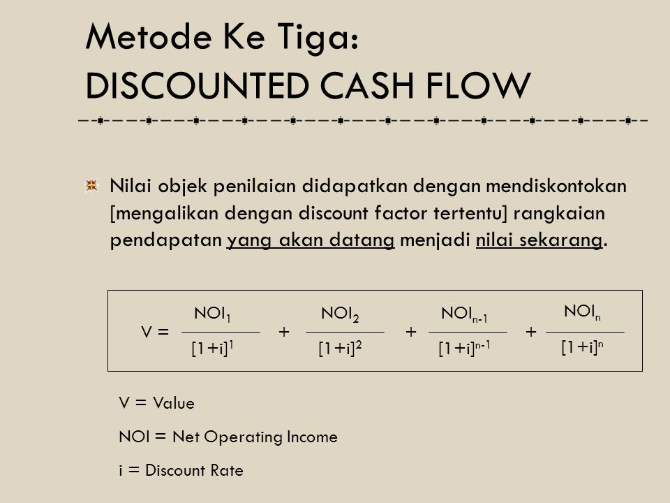 Metode Ke Tiga: DISCOUNTED CASH FLOW
