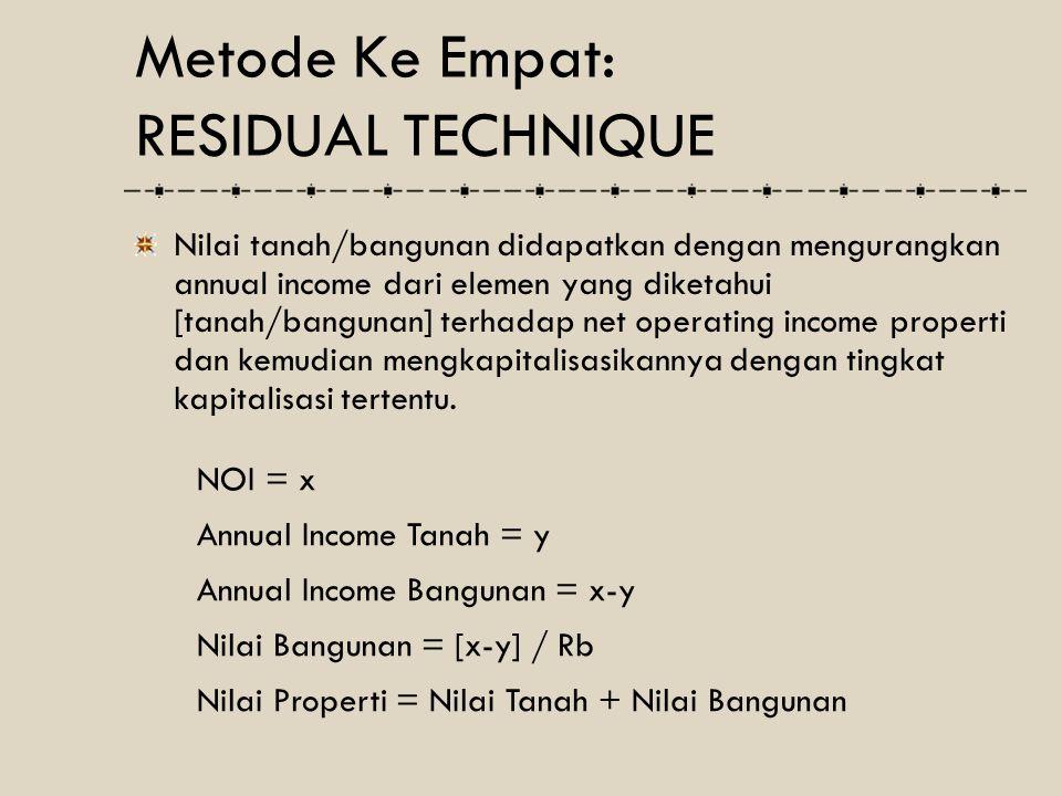 Metode Ke Empat: RESIDUAL TECHNIQUE