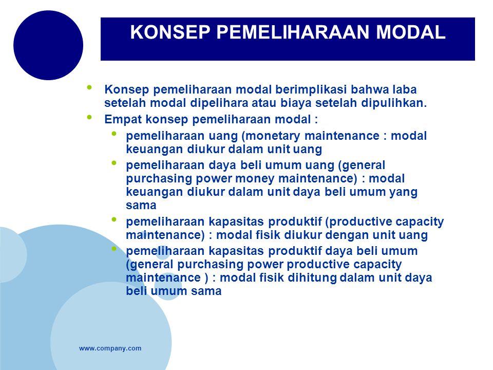 KONSEP PEMELIHARAAN MODAL