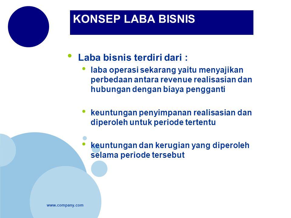 KONSEP LABA BISNIS Laba bisnis terdiri dari :