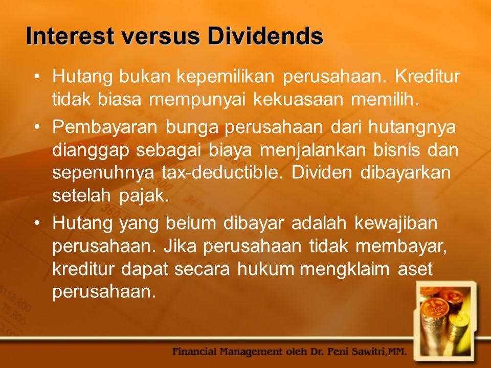 Interest versus Dividends