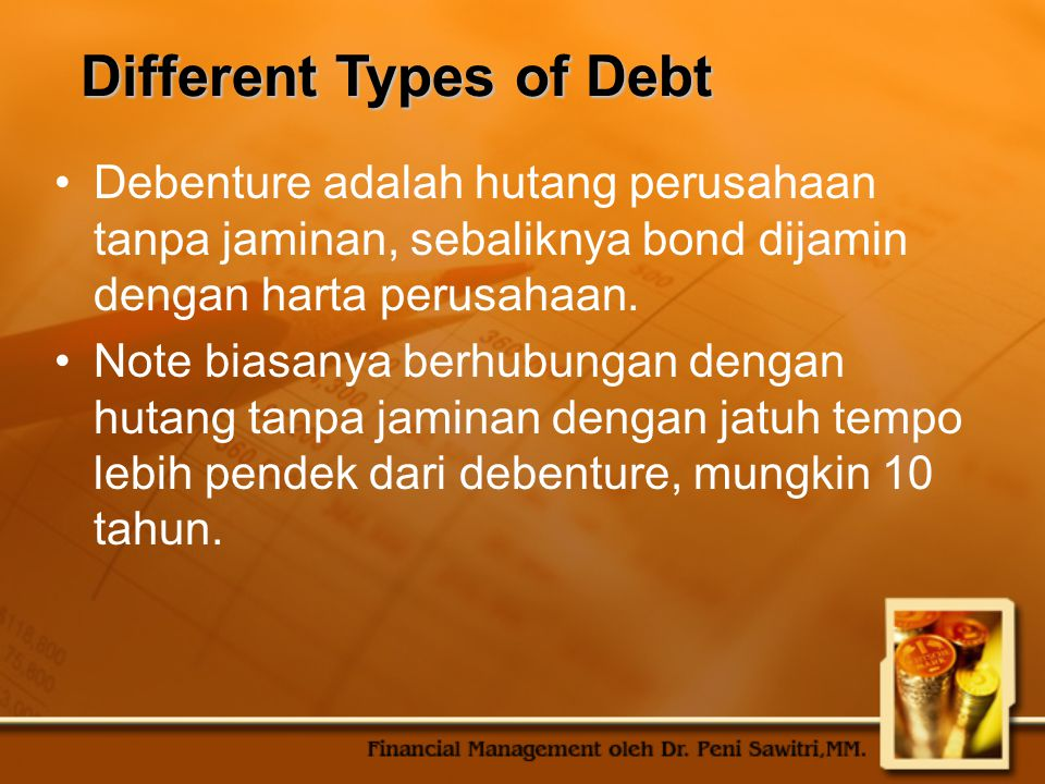 Different Types of Debt