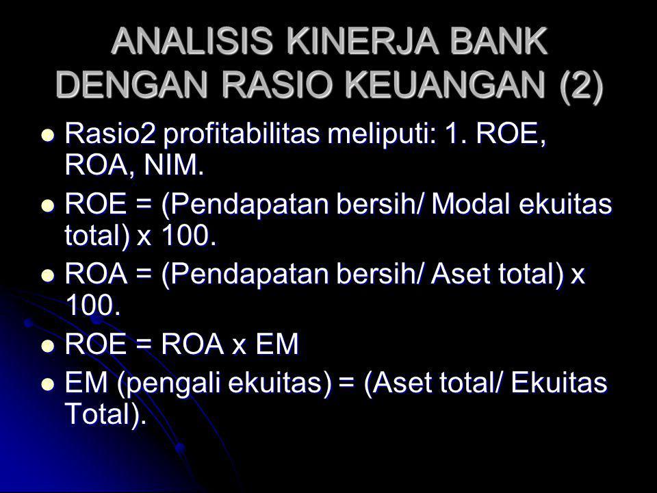 ANALISIS KINERJA BANK DENGAN RASIO KEUANGAN (2)