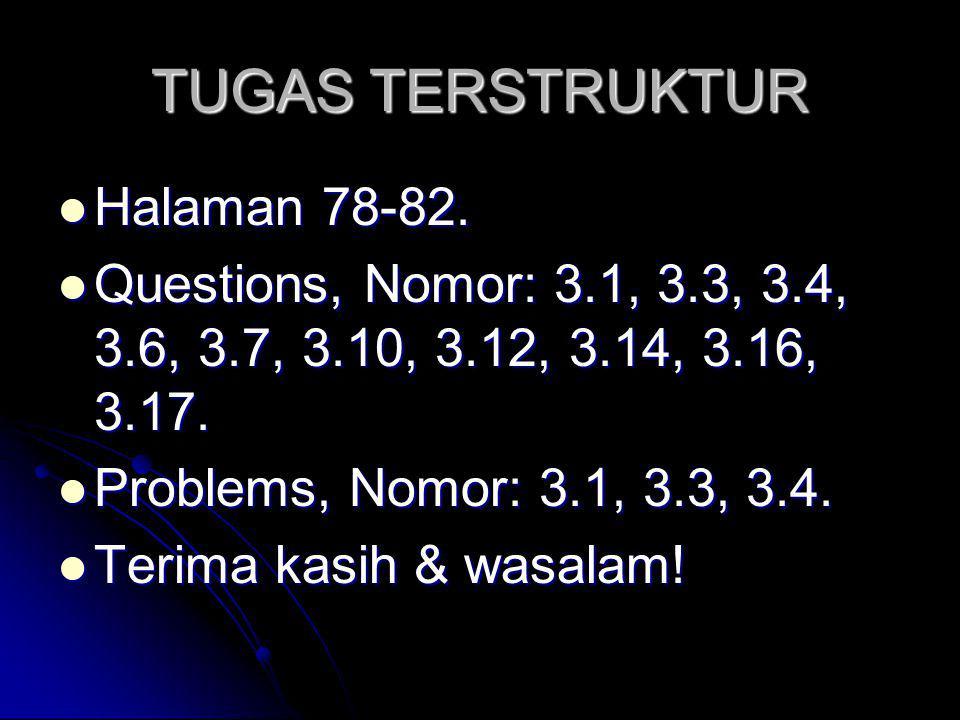 TUGAS TERSTRUKTUR Halaman 78-82.