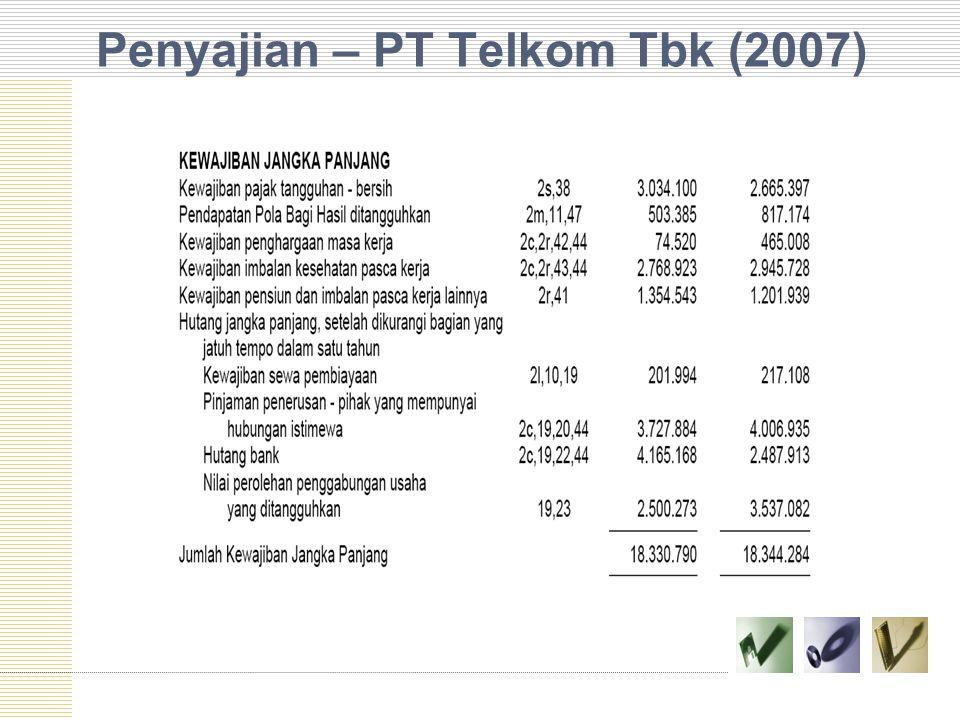 Penyajian – PT Telkom Tbk (2007)