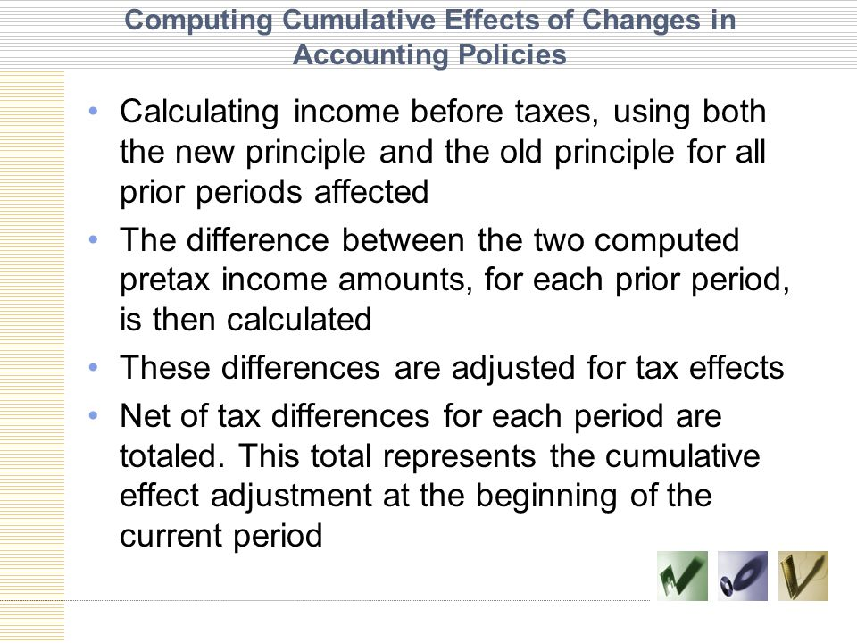 Computing Cumulative Effects of Changes in Accounting Policies