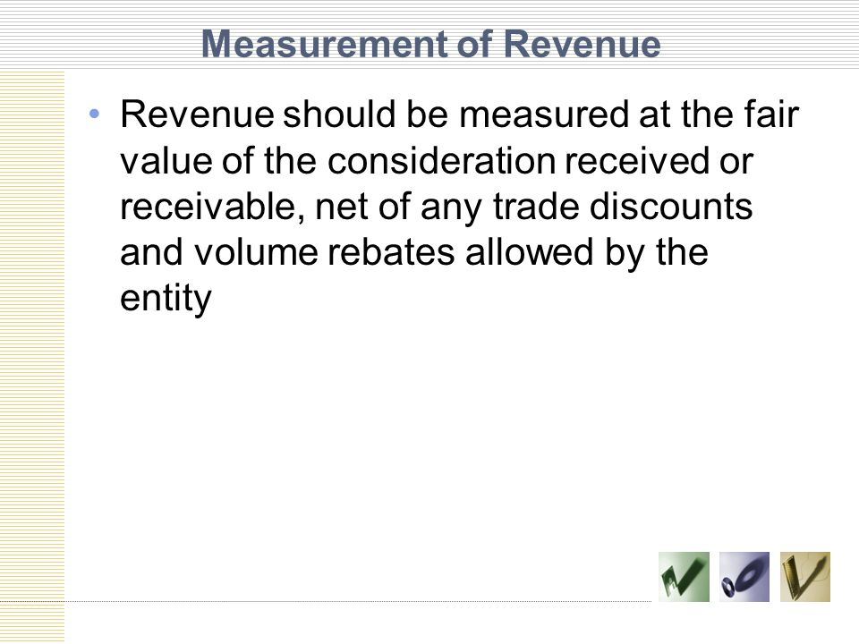 Measurement of Revenue