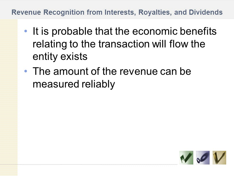 Revenue Recognition from Interests, Royalties, and Dividends