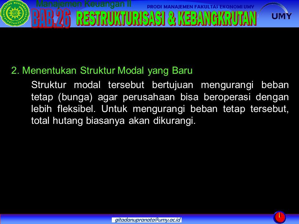 2. Menentukan Struktur Modal yang Baru