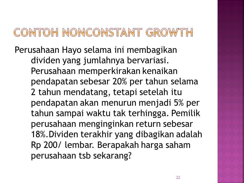 Contoh Nonconstant Growth
