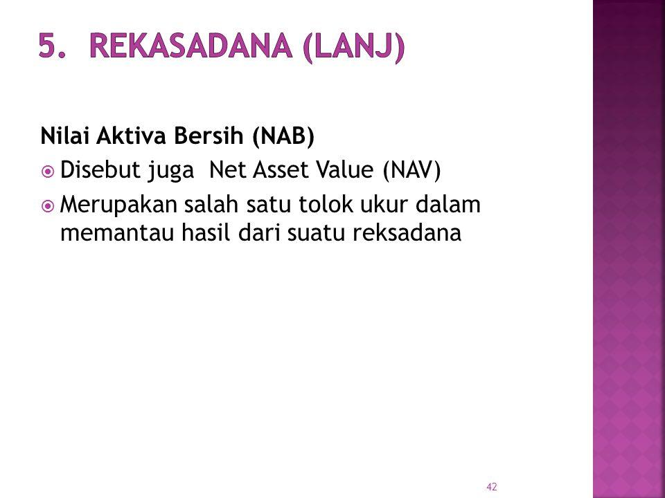 5. Rekasadana (Lanj) Nilai Aktiva Bersih (NAB)