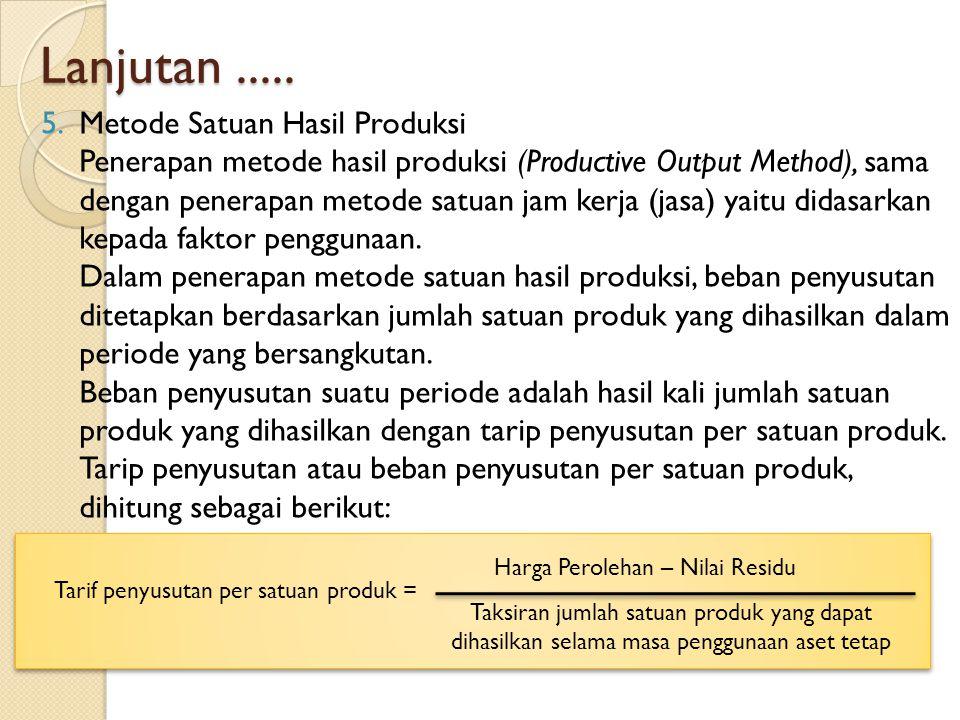 Lanjutan ..... Metode Satuan Hasil Produksi