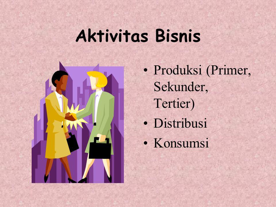 Aktivitas Bisnis Produksi (Primer, Sekunder, Tertier) Distribusi