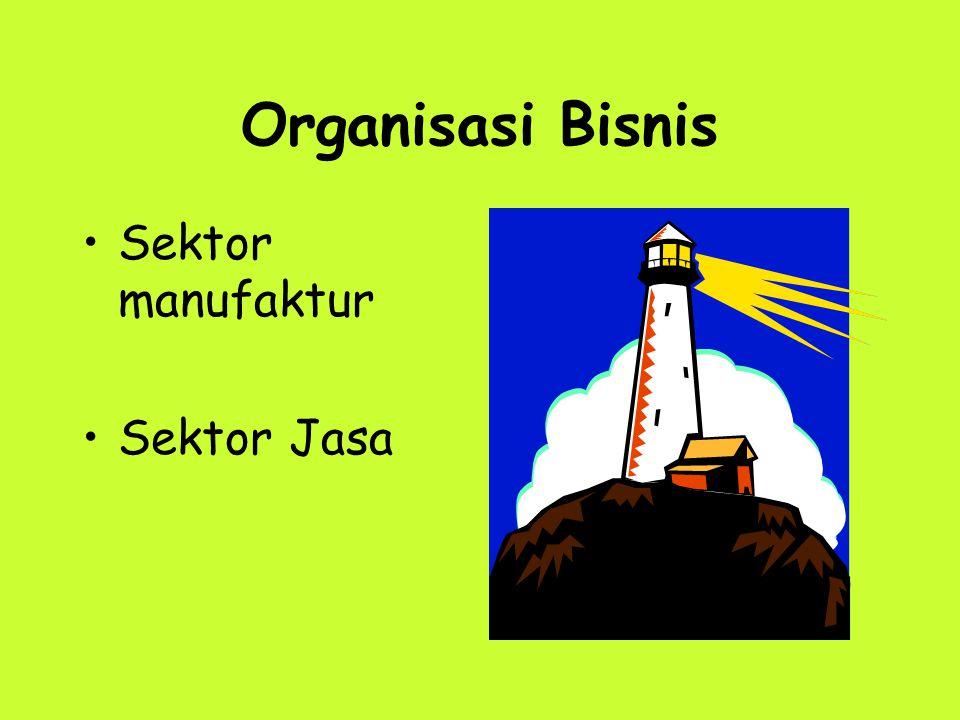 Organisasi Bisnis Sektor manufaktur Sektor Jasa