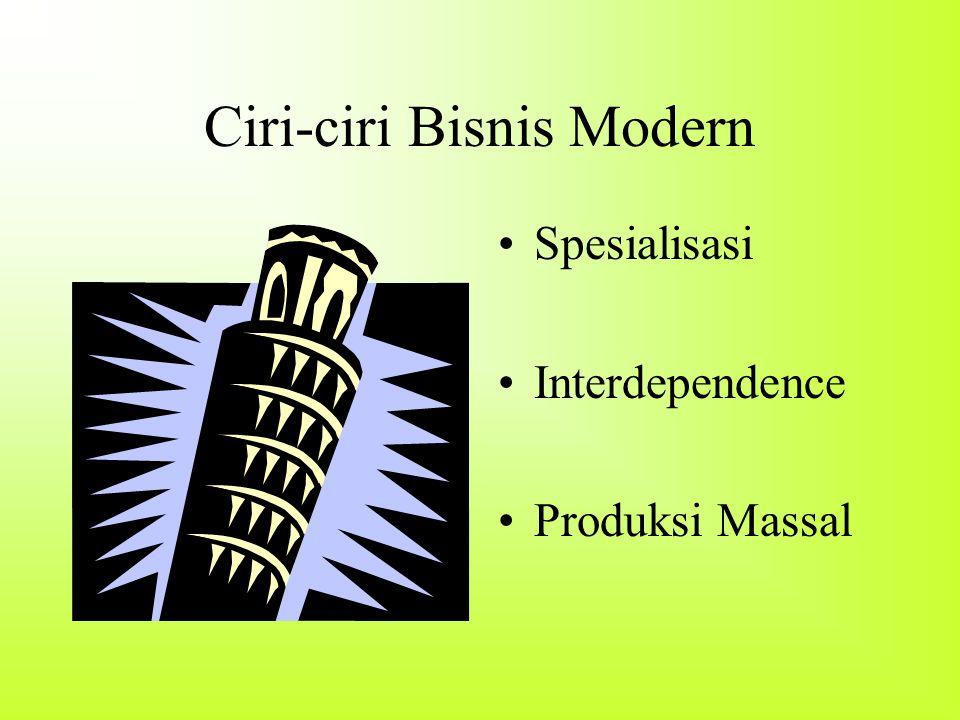 Ciri-ciri Bisnis Modern