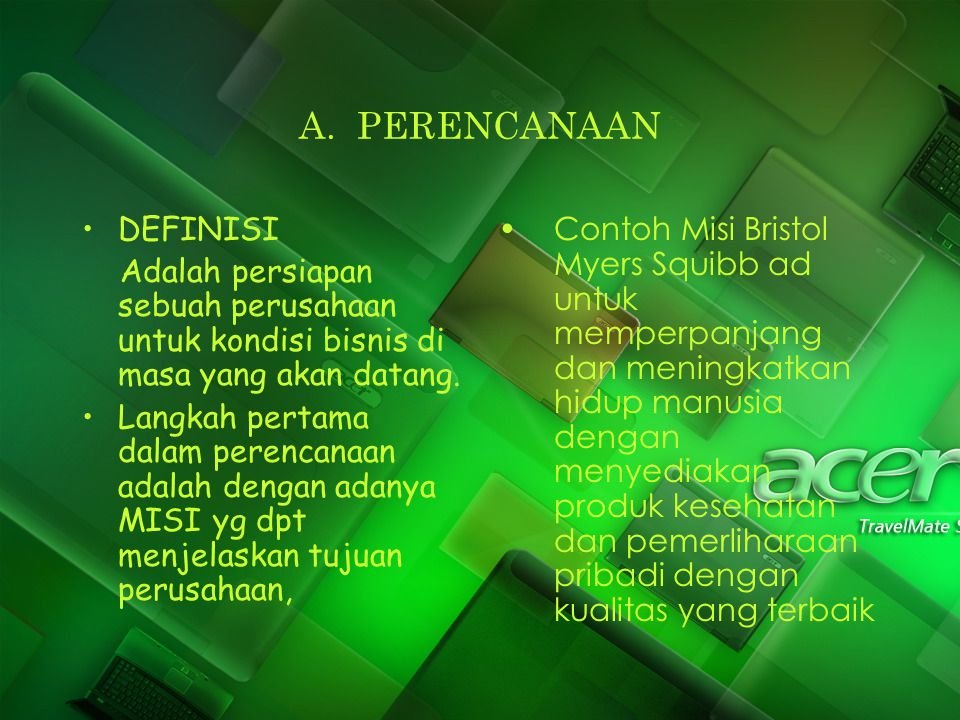A. PERENCANAAN DEFINISI