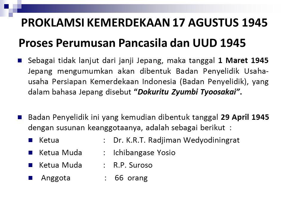PROKLAMSI KEMERDEKAAN 17 AGUSTUS 1945