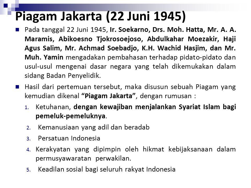 Piagam Jakarta (22 Juni 1945)