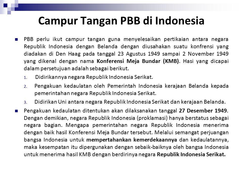 Campur Tangan PBB di Indonesia