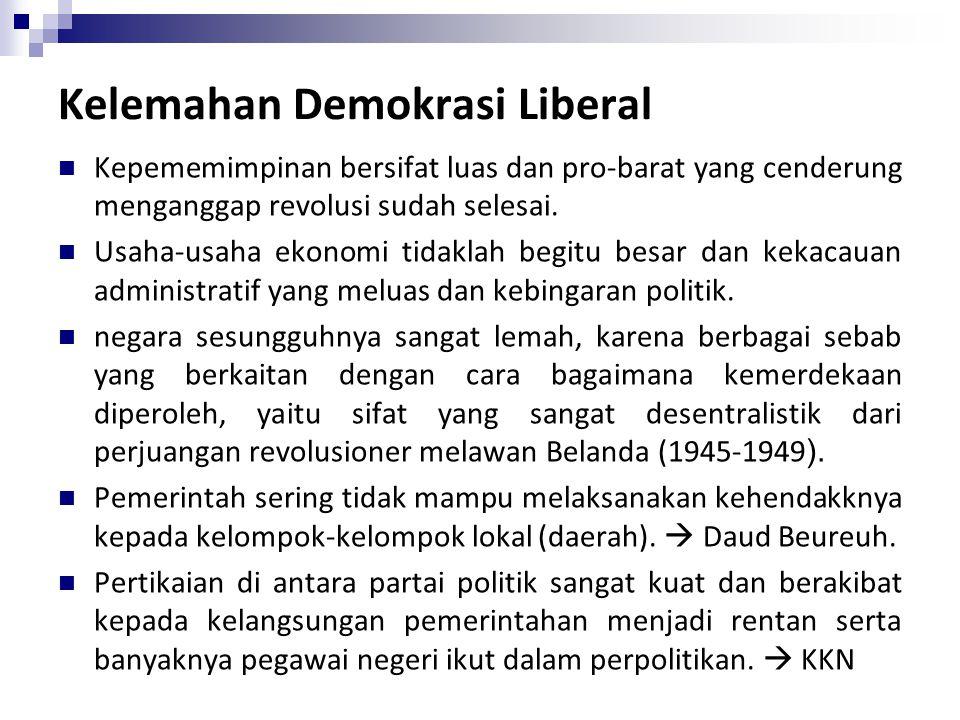Kelemahan Demokrasi Liberal