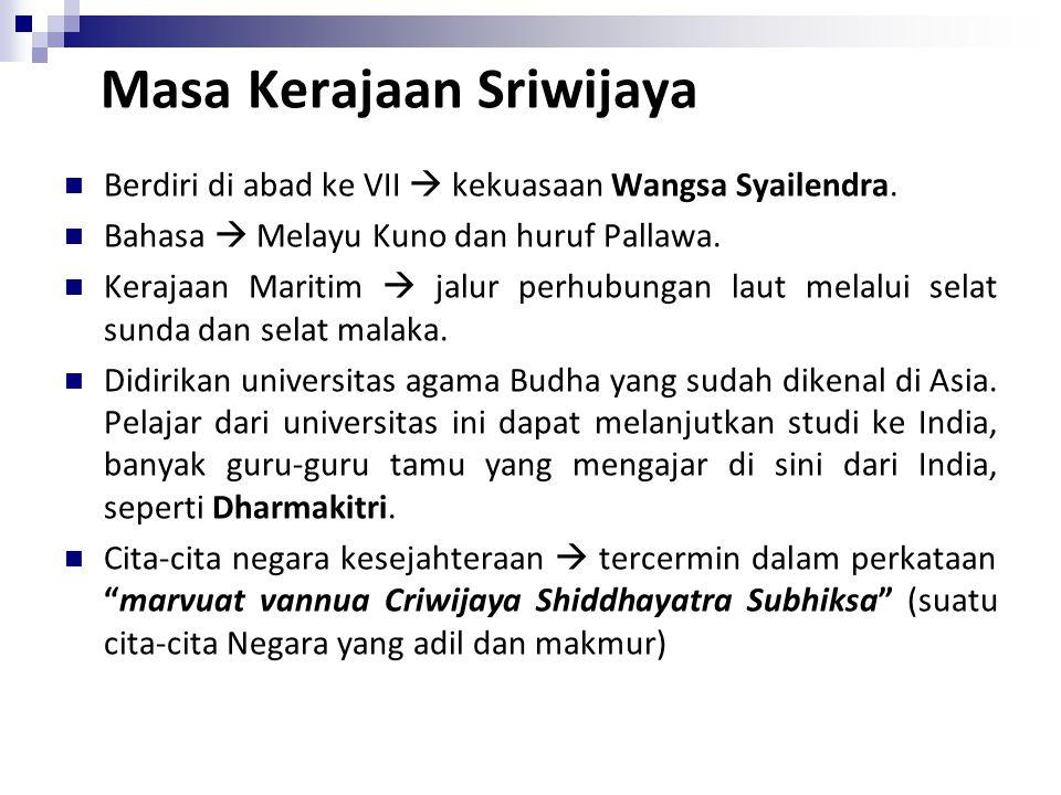 Masa Kerajaan Sriwijaya