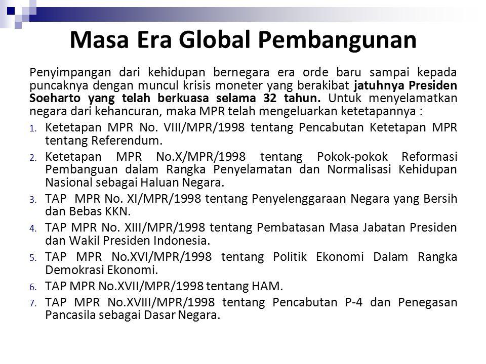 Masa Era Global Pembangunan