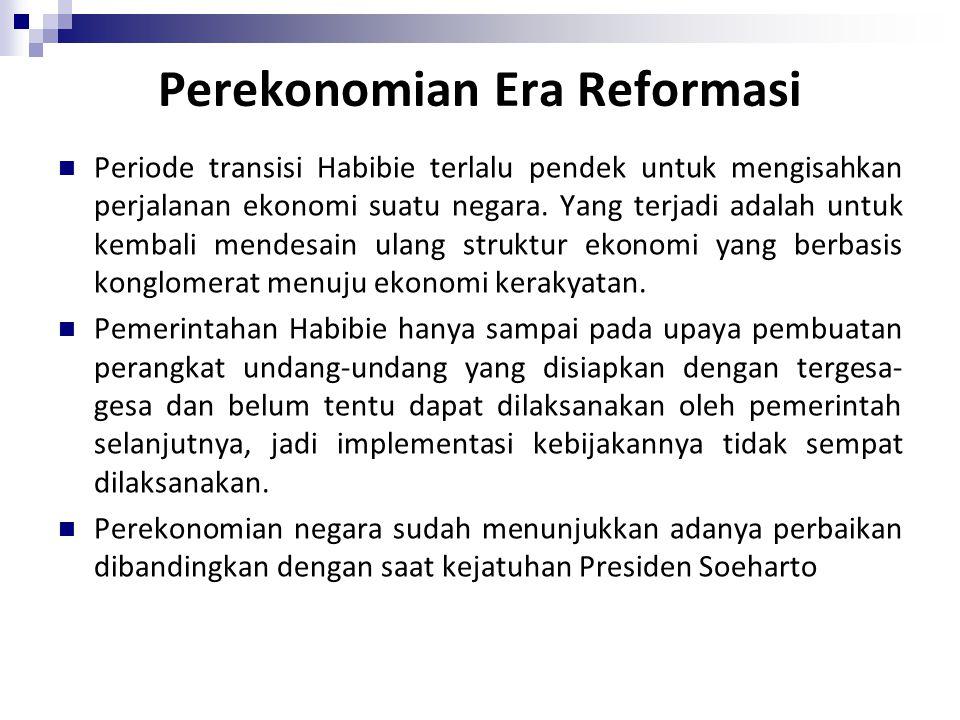 Perekonomian Era Reformasi