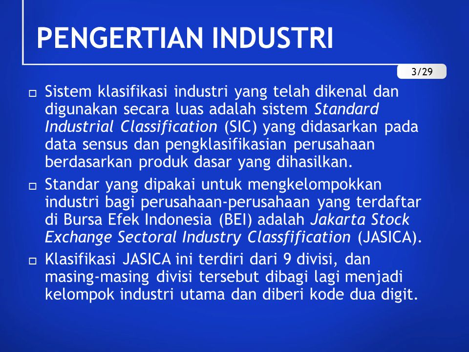 PENGERTIAN INDUSTRI 3/29.