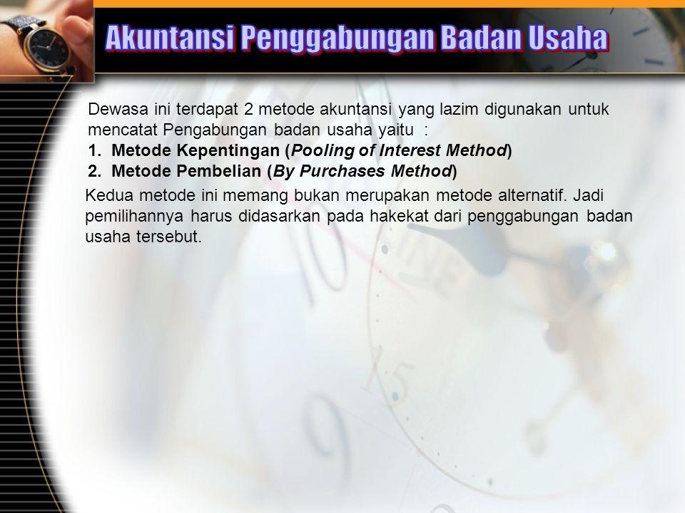 Akuntansi Penggabungan Badan Usaha